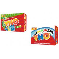 Настольная карточная игра Strateg УНО MIX: классика+детское RU (30254)