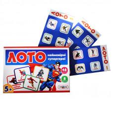 Настольная развлекательная игра Strateg Лото Неймовірні супергерої UA (30653)