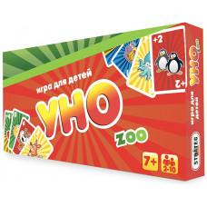 Настольная карточная игра Strateg УНО: детское ZOO RU (40255)