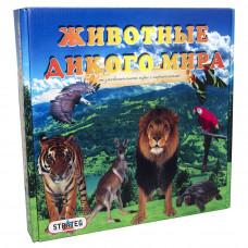 Настольная развивающая игра Strateg Животные дикого мира RU (686)