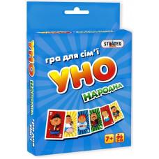 Настольная карточная игра Strateg УНО народная мини UA (7014)