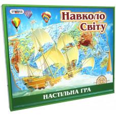 Настольная карточная игра для всей семьи Strateg Вокруг света UA (724)