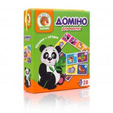 Настольная развивающая игра для детей Vladi Toys Домино Зоопарк UA (VT2100-04)