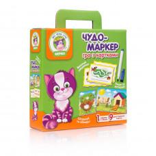 Настольная развивающая игра для детей Vladi Toys Чудо-маркер Ферма UA (VT2100-12)