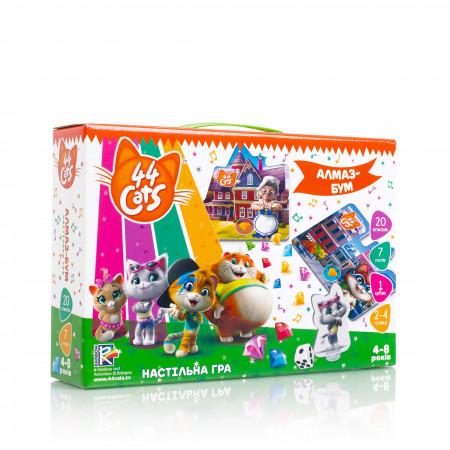 Настольная развивающая игра для детей Vladi Toys 44 Кота. Алмаз-Бум UA (VT8055-15)