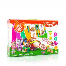 Настольная развивающая игра для детей Vladi Toys 44 Кота. Часики тик-так UA (VT8055-26)